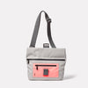 Travis Travel and Cycle Satchel in Grey/Orange unfolded