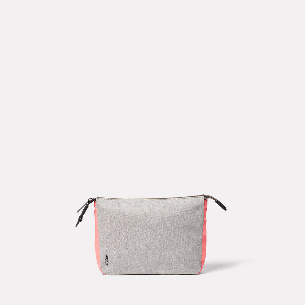 Wiggy Non Leather Travel Cycle Washbag in Grey/Orange