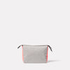 Wiggy Non Leather Travel Cycle Washbag in Grey/Orange Back