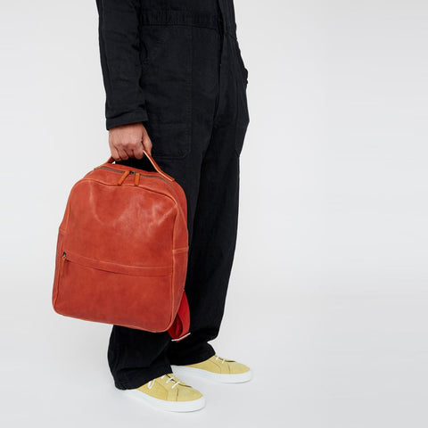 Tàpies Calvert Leather Rucksack in Black
