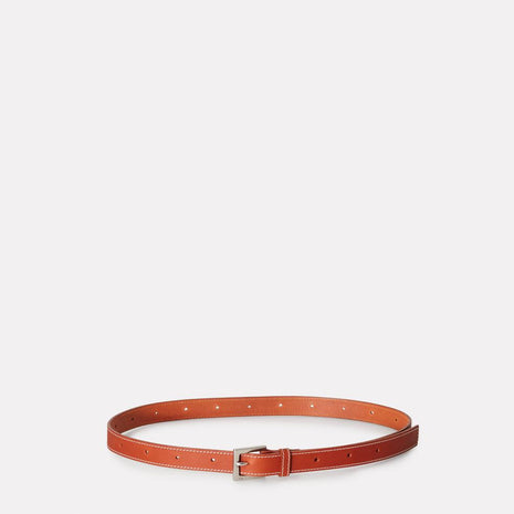 Arty Stitched Leather Belt in Tan