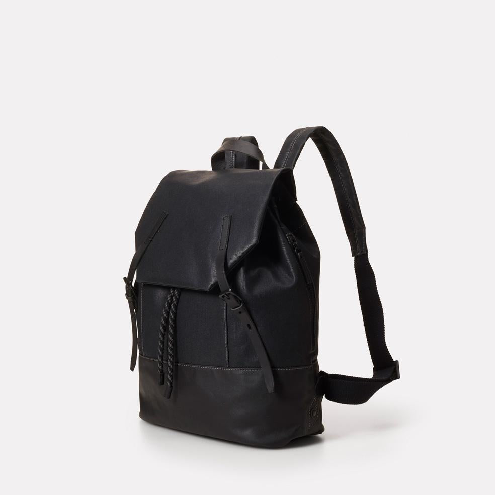 ... Dean Waxed Canvas Drawstring Backpack in Black For Men and Women ... d61a59b1ba