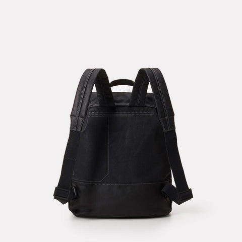Dean Waxed Canvas Drawstring Backpack in Black For Men and Women