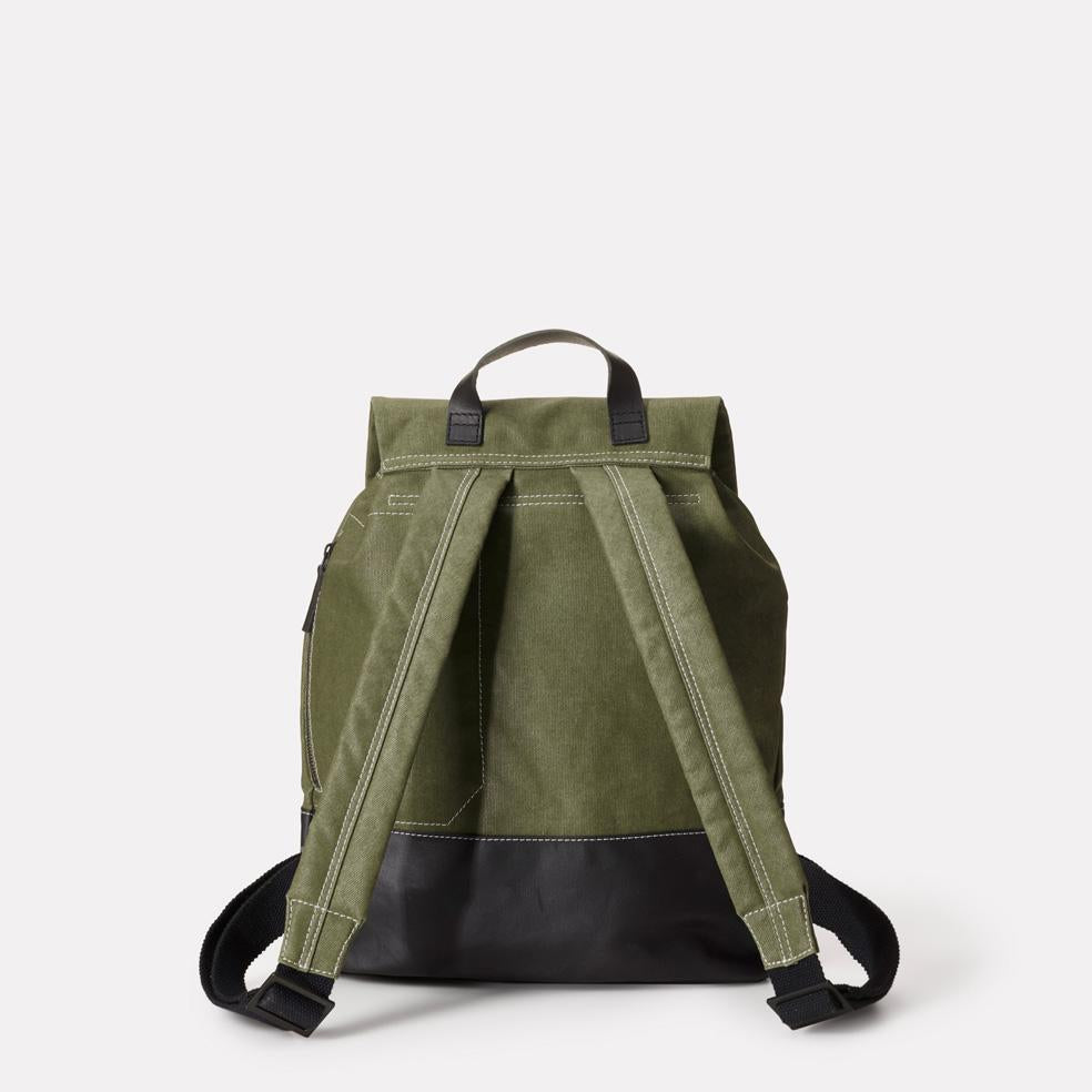... Dean Waxed Canvas Drawstring Backpack in Green For Men and Women ... 87183d6d9c