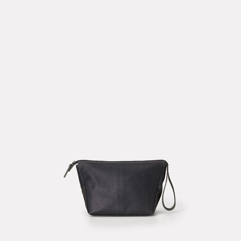 Del Waxed Canvas Washbag With Nylon Lining in Black For Men and Women