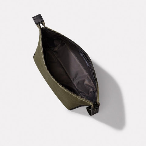 Del Waxed Canvas Washbag With Nylon Lining in Green For Men and Women