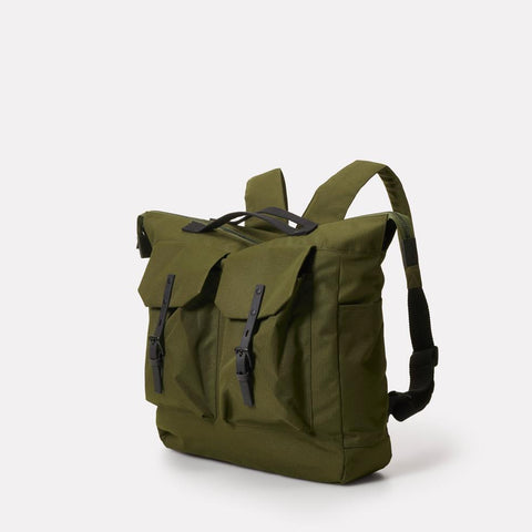 Frank Large Ripstop Nylon Backpack in Green With Webbing Top Handles For Women and Men