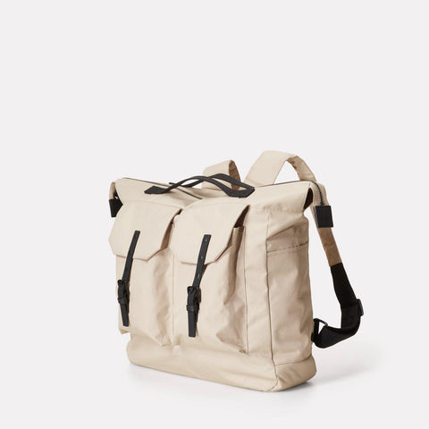 Frank Large Ripstop Nylon Backpack in Oatmeal With Webbing Top Handles For Women and Men
