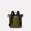 Frances Small Ripstop Nylon Backpack in Green With Webbing Top Handles in Bronze For Women and Men