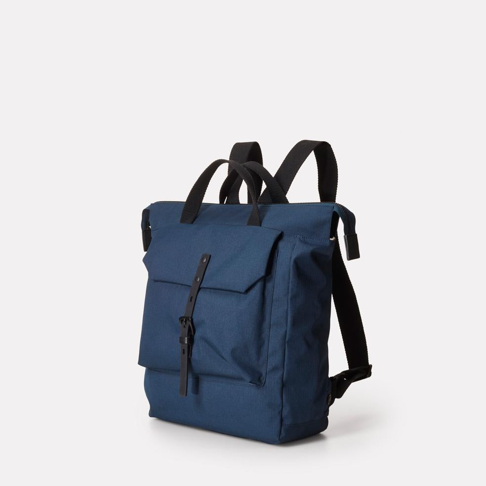 43f17031f7 ... Frances Small Ripstop Nylon Backpack in Navy With Webbing Top Handles  in Bronze For Women and ...