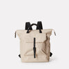 Frances Small Ripstop Nylon Backpack in Green With Webbing Top Handles in Beige For Women and Men
