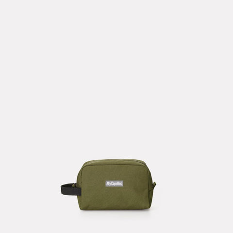 Mini Simon Ripstop Nylon Washbag in Green For Women and Men