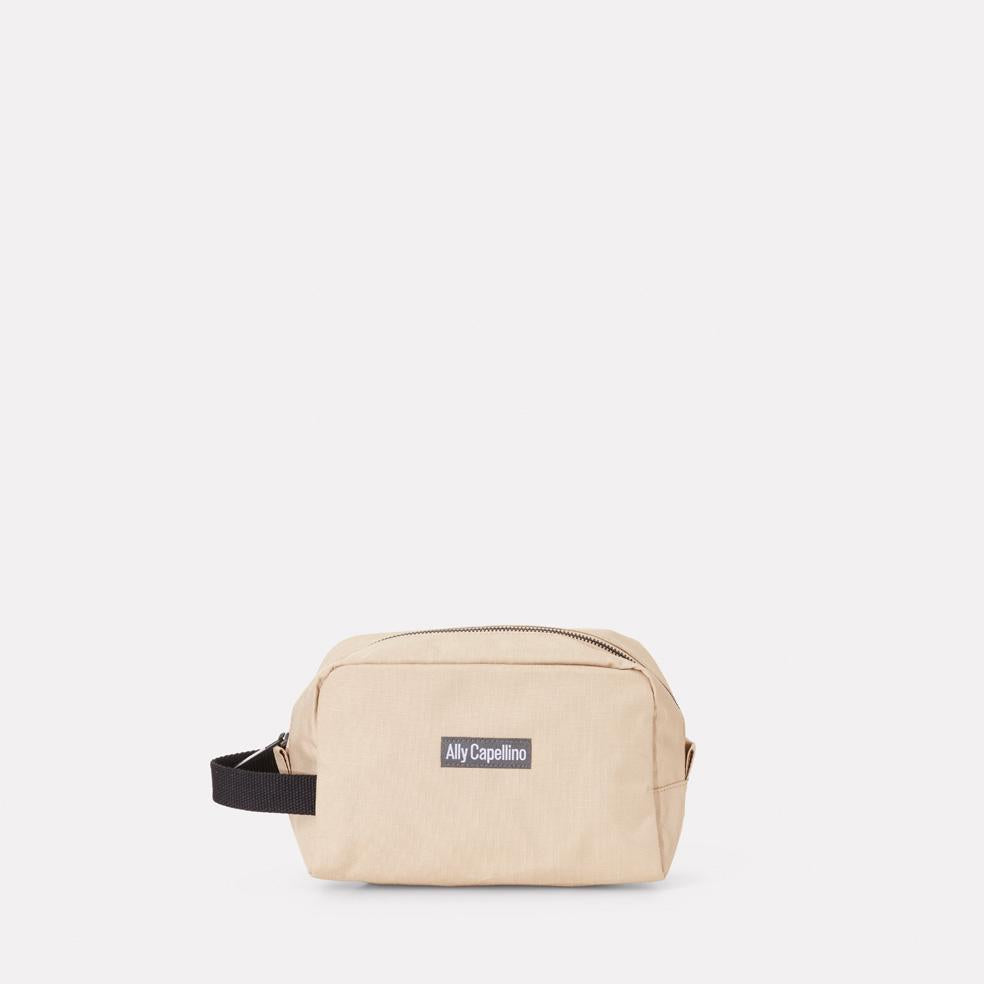 Mini Simon Ripstop Washbag in Oatmeal