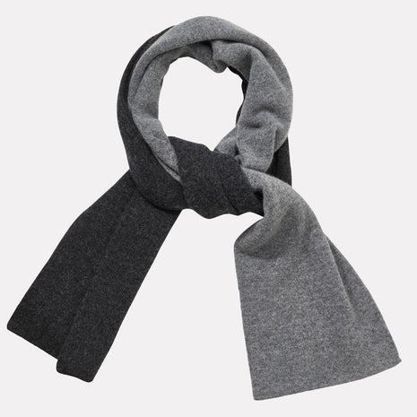 Lambswool Long Scarf in Charcoal & Grey