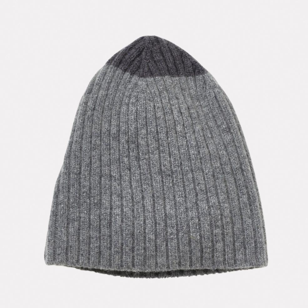 f8e7e83c0a0 ... 100% Lambswool Knit Hat in Charcoal   Grey For Women and Men