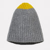 100% Lambswool Knit Hat in Yellow & Grey For Women and Men