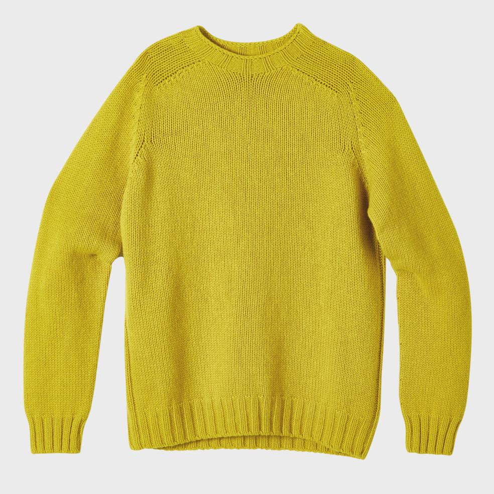 Mens Knit Crew Neck in Piccalilly