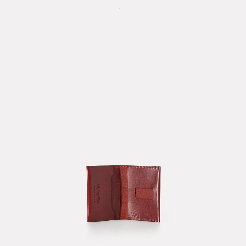 Fletcher Leather Card Holder in Dark Red