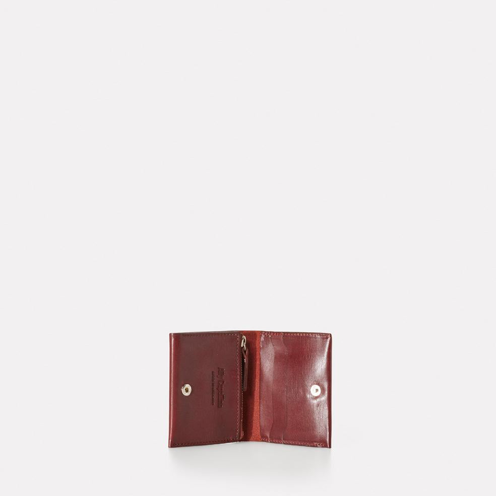 Riley Leather Purse in Dark Red