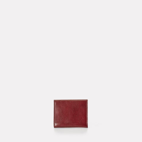Riley Leather Wallet With Zip Up Coin Section in Dark Red Men and Women