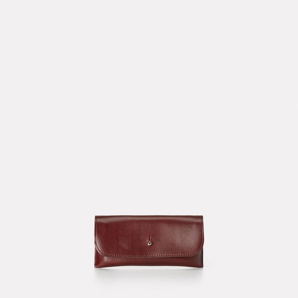 Kit Leather Glasses Case in dark red For Women and Men