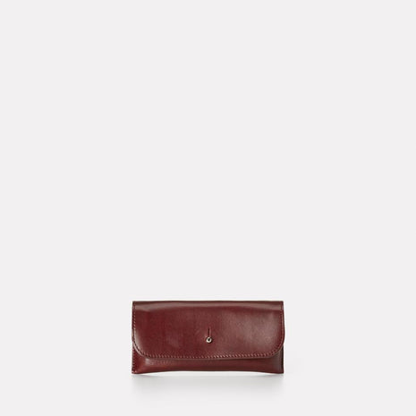 Kit Leather Glasses Case in Dark Red