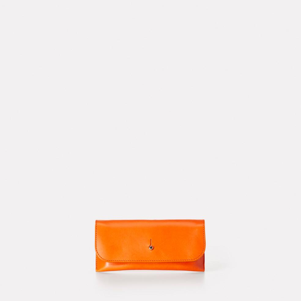 Kit Leather Glasses Case in Orange