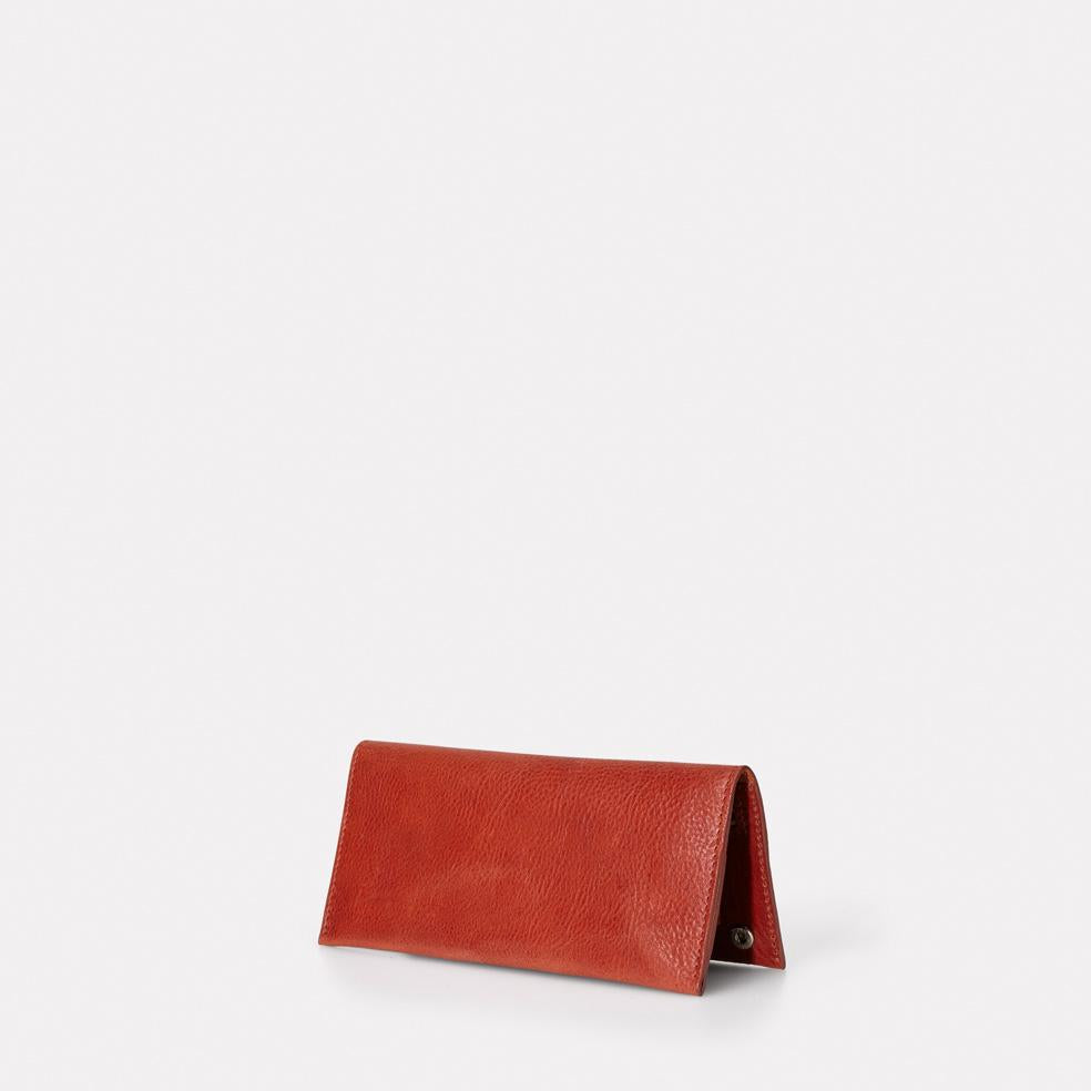 Evie Long Leather Wallet in Brandy