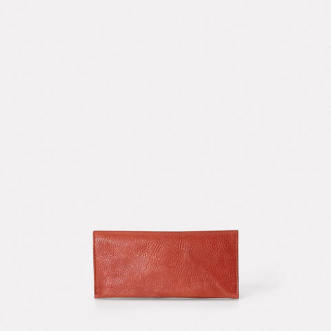 Evie Long Leather Wallet in Brandy For Women