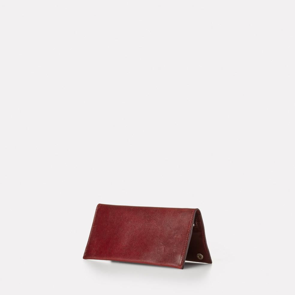 Evie Long Leather Wallet in Dark Red
