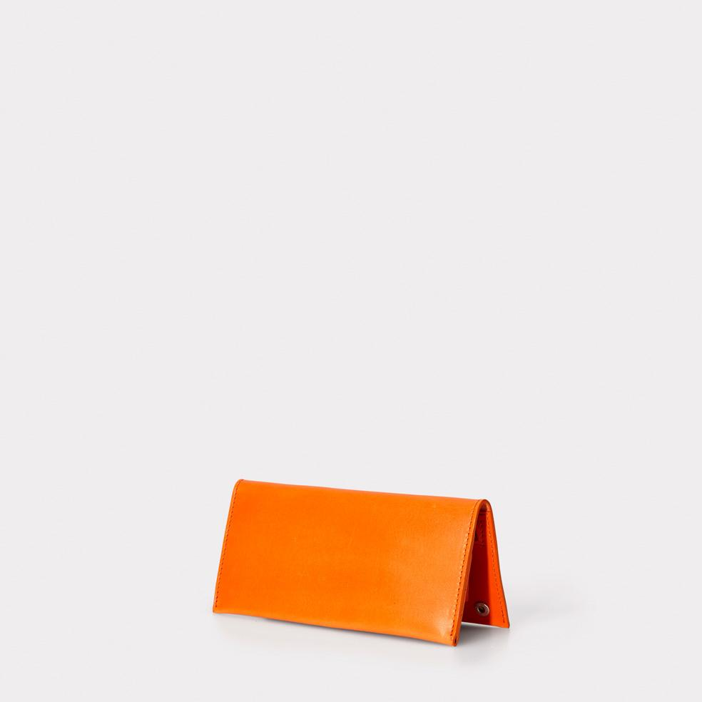 Evie Long Leather Wallet in Orange
