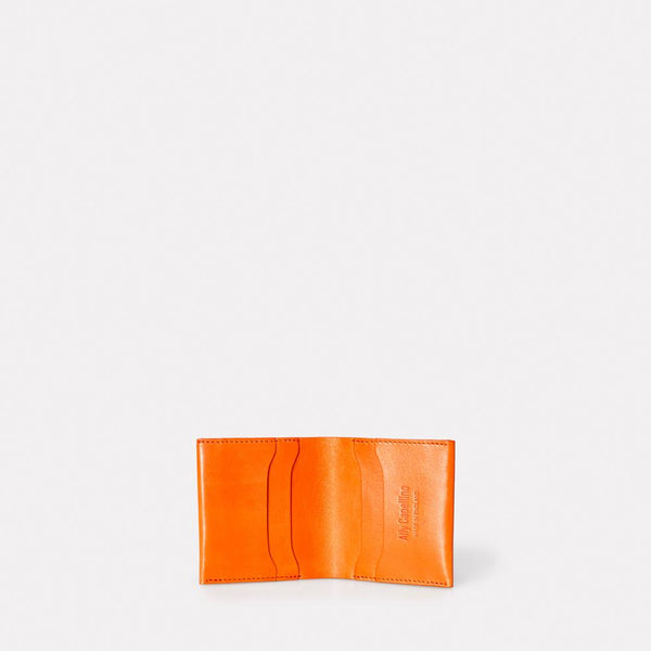 Oliver Slim Leather Wallet For Notes and Cards in Orange for Men and Women
