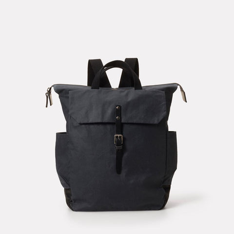 Ashley Waxed Cotton Multi-Pocket Backpack in Grey for Men and Women