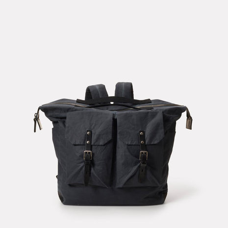 Frank Large Waxed Cotton Rucksack in Grey