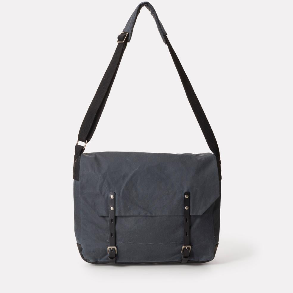 Jeremy Waxed Cotton Satchel In Grey