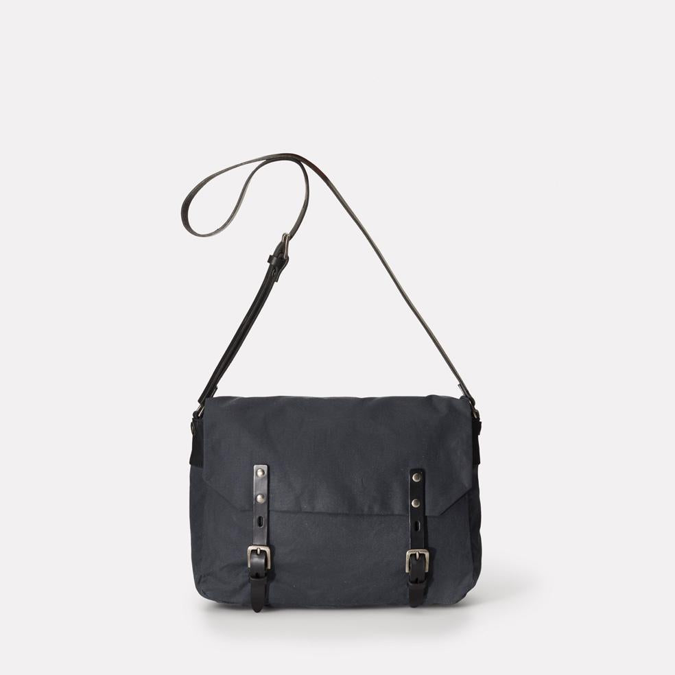 Jez Waxed Cotton Satchel in Grey