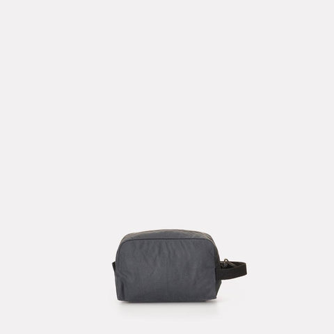 Mini Simon Waxed Cotton Washbag With Nylon lining in Grey For Men and Women