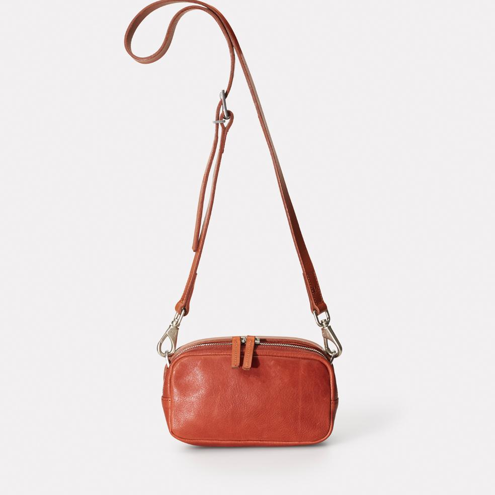 Ginger Calvert Leather Crossbody Bag in Brandy