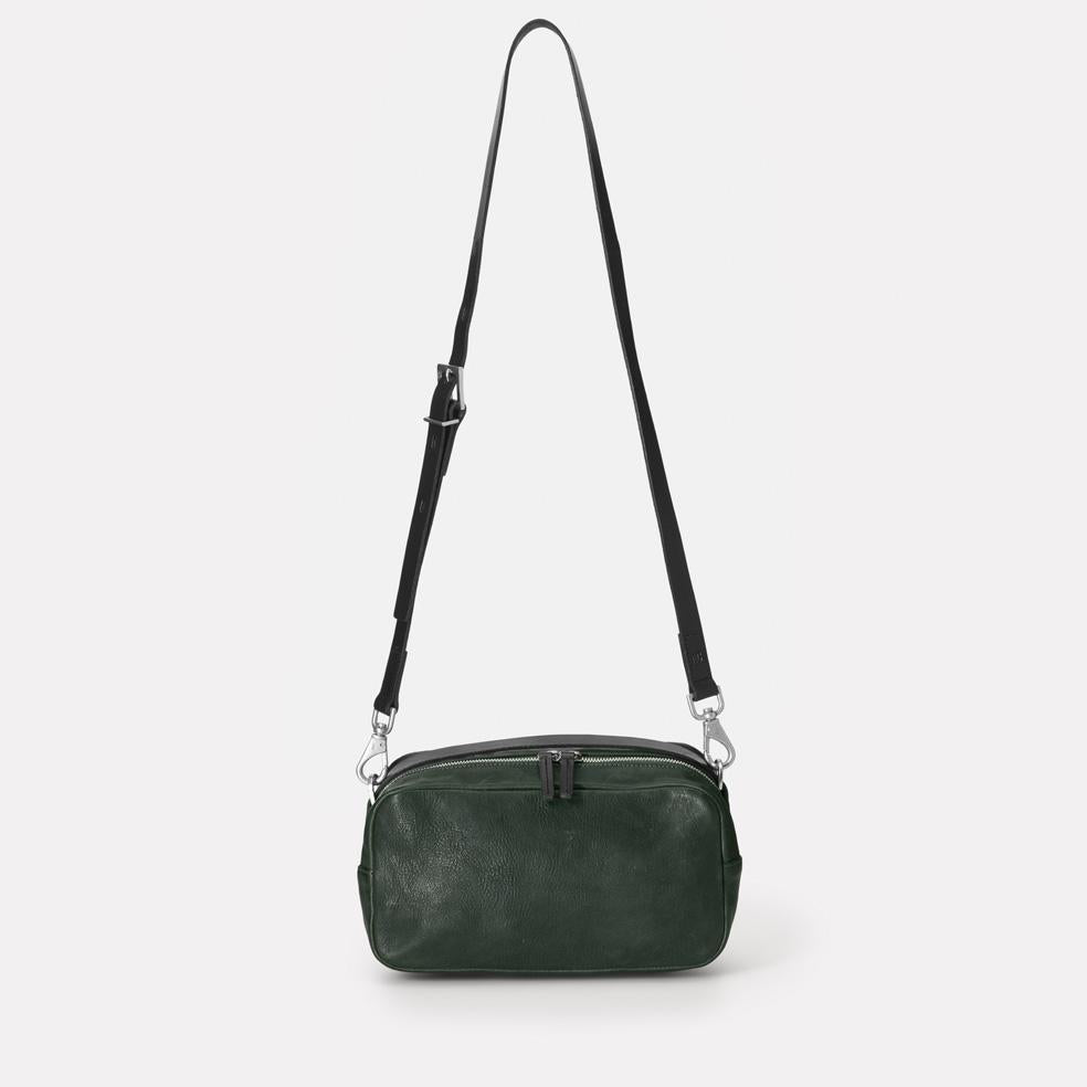 Ginger Calvert Leather Crossbody Bag in Dark Green