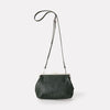 Shirley Medium Vegetable Tanned Leather Shoulder Crossbody Frame Bag in Dark Green for Women