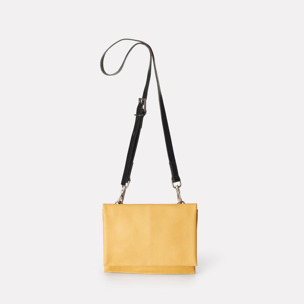 Mini Valerie Leather Crossbody Bag in Mustard