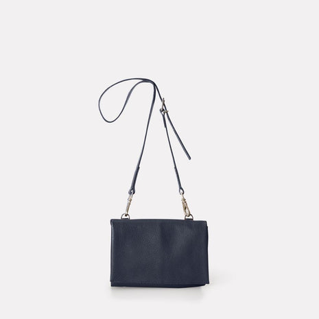 Mini Valerie Leather Crossbody Bag in Navy