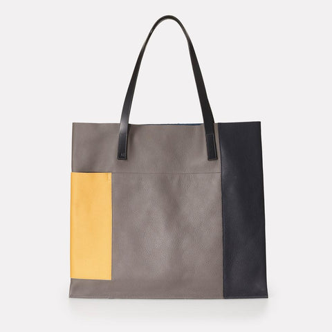 Verity Pebble Grain Leather Large Tote in Multi Colour For Women