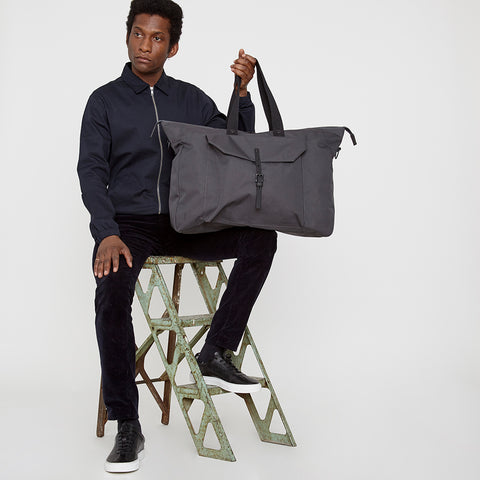 Freddie Ripstop Holdall in Charcoal