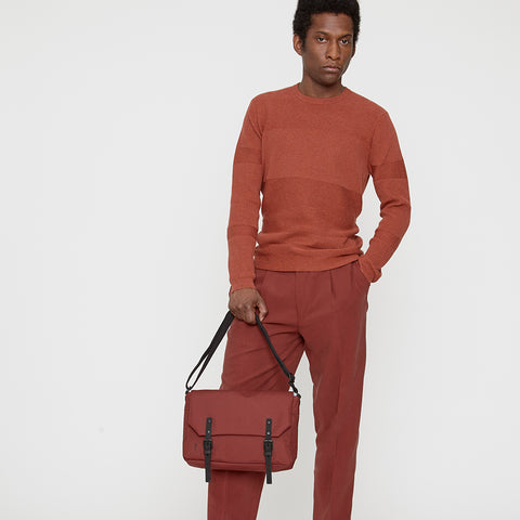 Jeremy Small Ripstop Satchel in Burgundy
