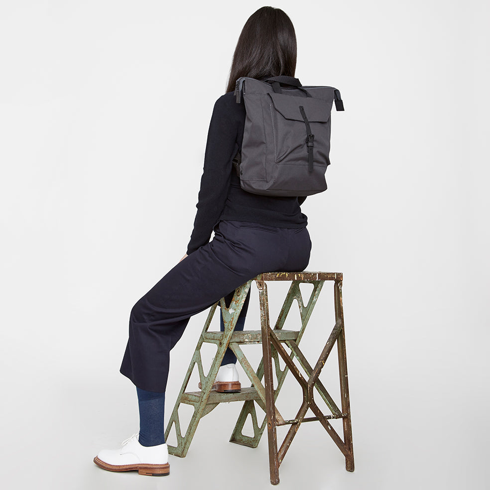 Ally New Capellino Frances Charcoal In Rucksack Ripstop fWXA6qg