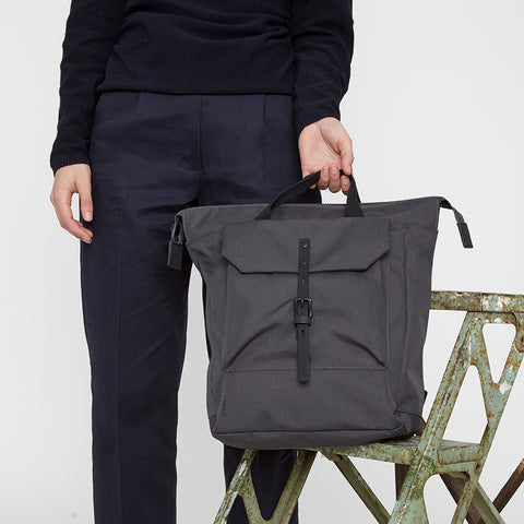 Frances Ripstop Rucksack in Charcoal