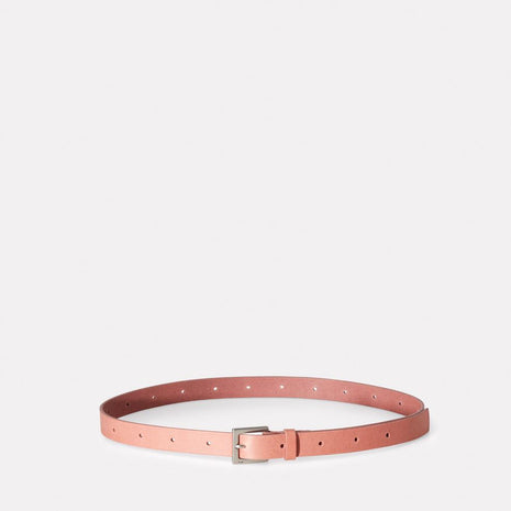 Arty Leather Belt in Chalky Pink