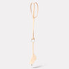 Kamal Stitched Leather Key Lanyard in Nude-Belts-Ally Capellino-Ally Capellino