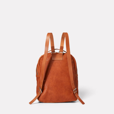 Quinn Small Calvert Leather Rucksack in Tan